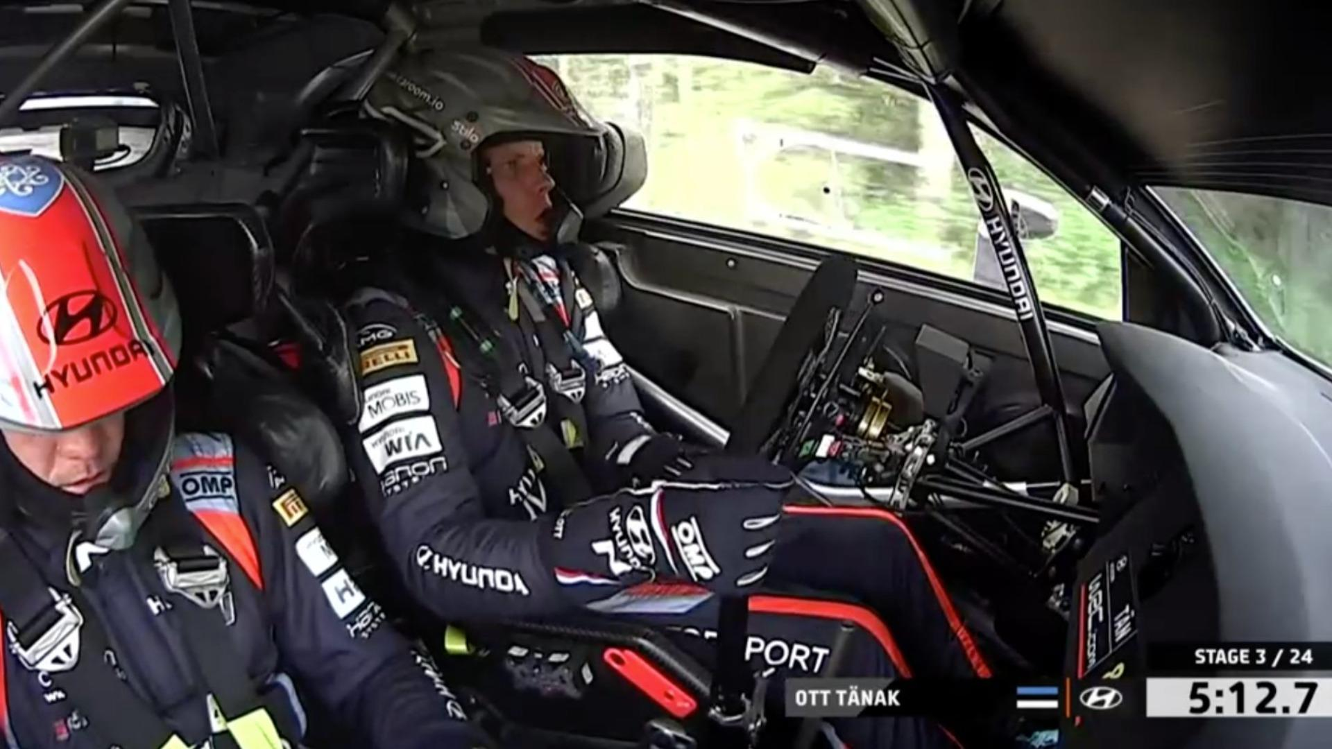 Tänak picks up puncture on SS3